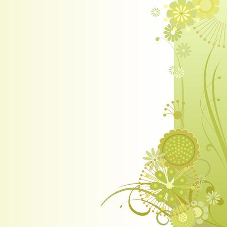 sulfur: Vector illustration of a floral background in sulfur Illustration