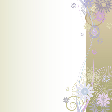 illustration of a beautiful floral  background