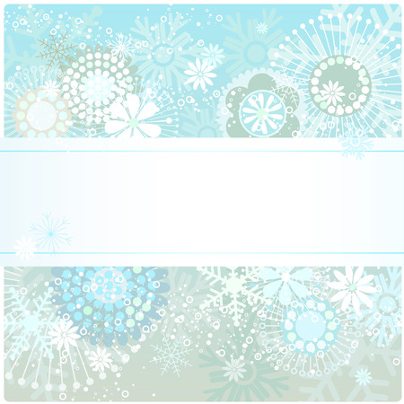 illustration of a beautiful winter background