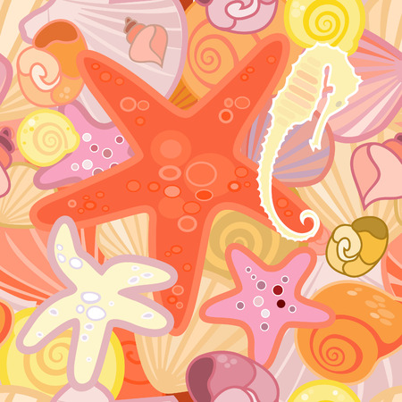 illustration of a starfish  background in crustacean