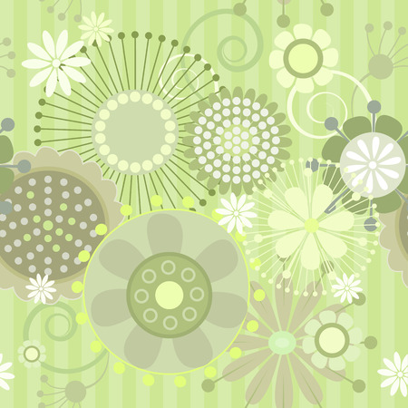 illustration of a seamless floral  pattern