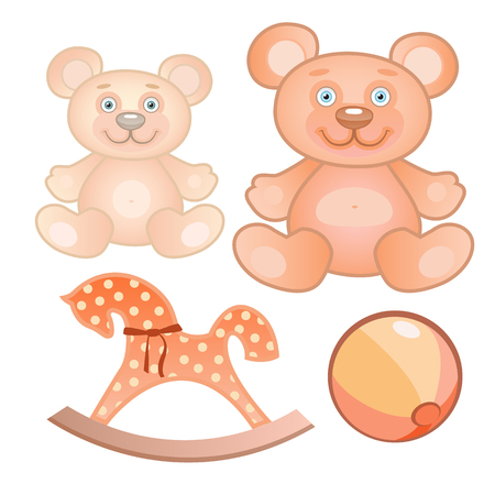 illustration of a four toys set Vectores