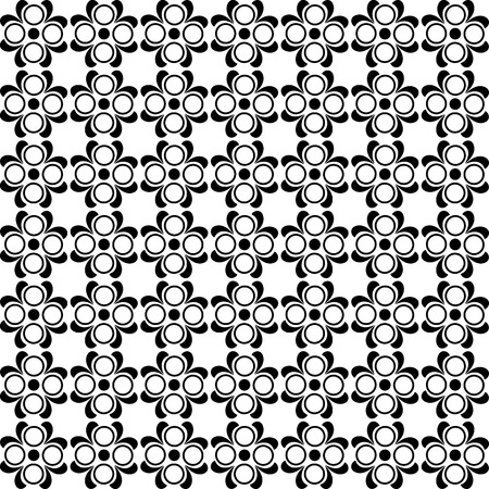 illustration of a black and white pattern Vectores