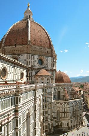 Florence. City top view. The Basilica di Santa Maria del Fiore. photo