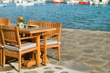Cozy nook by the sea. Greece photo