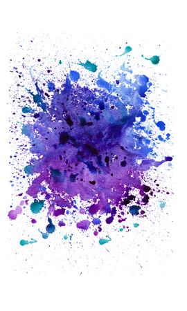 手描き水彩背景を抽象化、ベクトル イラスト。スクラップ ブック要素の水彩組成物。白い背景の水彩画の図形