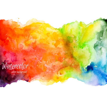 Abstract hand drawn watercolor background,vector illustration. Watercolor composition for scrapbook elements. Watercolor shapes on white background Vettoriali