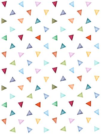 Resumen patrón de triángulos de colores de acuarela. Los colores pastel. Pintado a mano pattern.Perfect geométrica de fondo, la textura, wrappering de papel, papel pintado, impresión, textil, álbum de recortes y más Foto de archivo