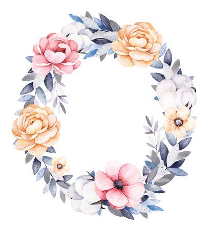 Schöne Winterkollektion Mit Zweigen, Baumwollpflanzen, Blumen ...