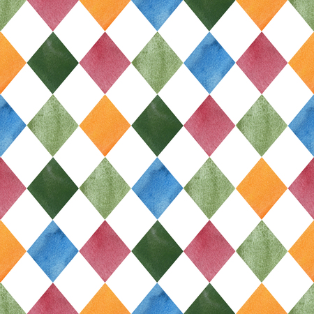 Colorful seamless geometric tile pattern. Watercolor abstract texture. Perfect for your project, baby shower, greeting card, design packaging, blogs, wallpaper, pattern, texture, print and more