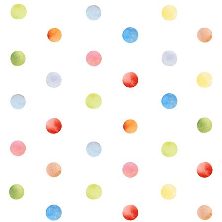 Buntes nahtloses Muster mit mehrfarbigem Konfetti. Aquarell abstrakte Textur. Perfekt für Ihr Projekt, Babyparty, Grußkarte, Designverpackung, Blogs, Tapete, Muster, Textur, Druck und mehr Standard-Bild