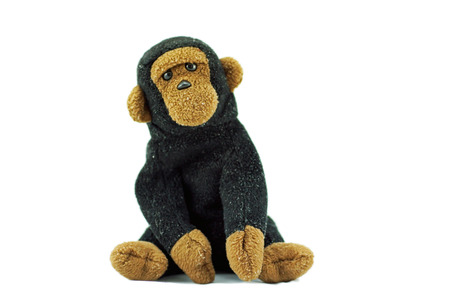 monkey doll on white background Stock Photo - 36375034