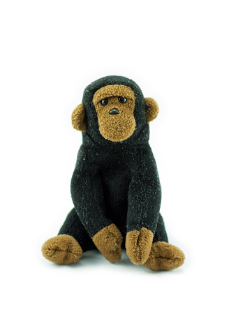 monkey doll on white background