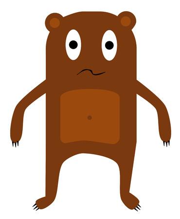brown bear – simplified vector of an animal Vector