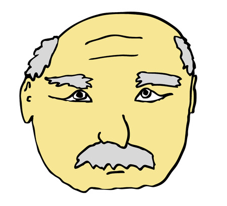 face of old, senior man – grandfather, grandpa Vector