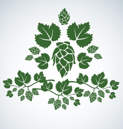 hop leaf Vector
