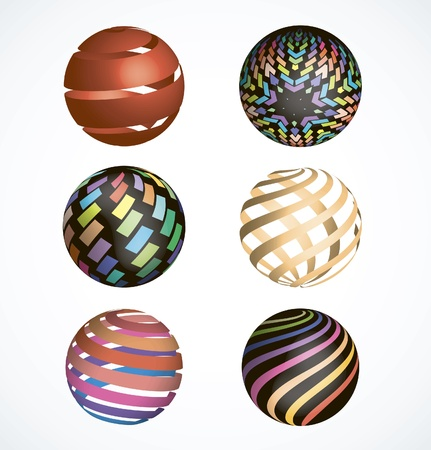 Abstract sphere icons collection Vector