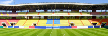 tribune: Panoramic view of football stadium