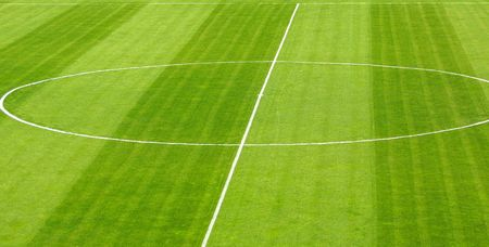 Green soccer football field Stock Photo - 6494174