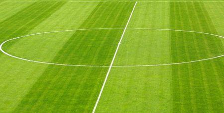 Green soccer football field Stock Photo - 6494174