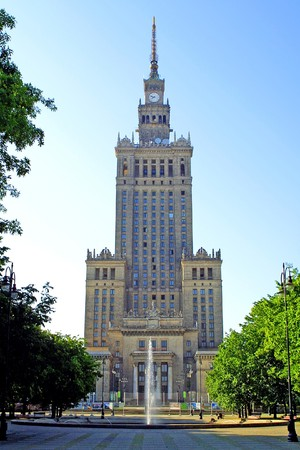 highest: One of the highest building of Europe - Palace of Culture and Science in Warsaw, Poland