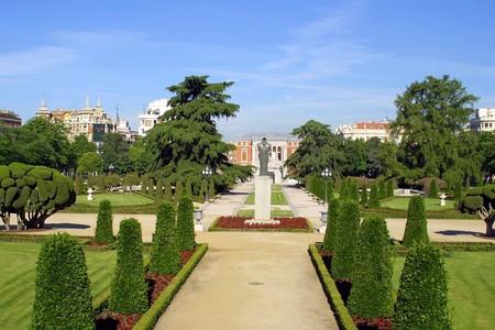 parque: Park Buen-Retiro (Parque del Buen Retiro) in Madrid, Spain