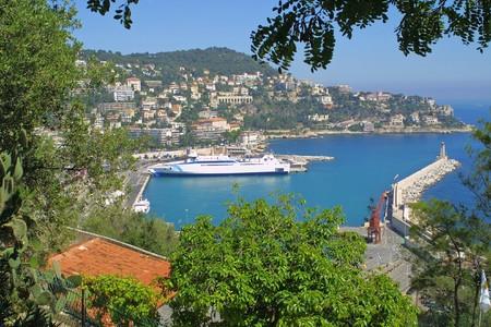 Bird view summer panorama of City of Nice, France photo