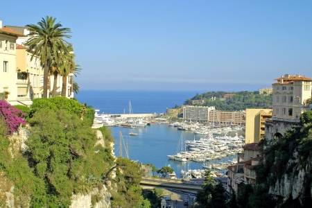 monaco: Panoramic view of sea port of Monte-Carlo, Monaco
