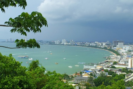 Bird view of Pattaya city, Thailand photo