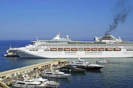 Luxury yachts in sea port of Monte-Carlo, Monaco photo