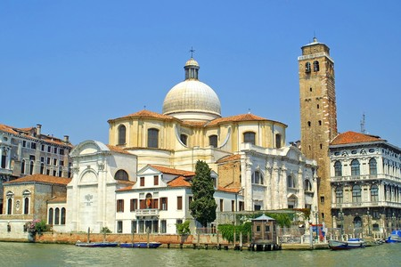 Church of San Geremia and Grand Channel in Venice, Italy photo
