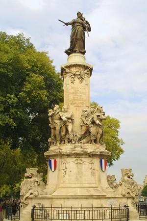 Les Mobiles des Reformes monument in Marseille, France Stock Photo - 7419715