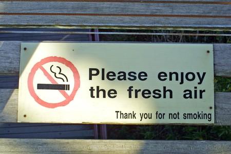 Creative No Smoking sign (Enjoy the fresh air) photo
