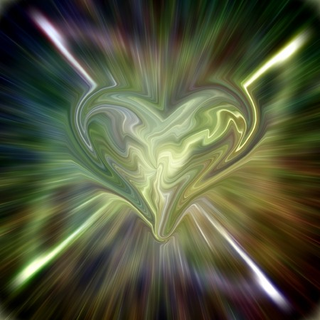 Abstract fractal background with heart photo