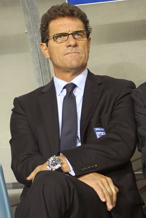DNIPROPETROVSK, UKRAINE - OCTOBER 10, 2009: England manager Fabio Capello looks on during the FIFA 2010 World Cup Group 6 Qualifying match between Ukraine and England at the Dnipro Arena on Oct.10, 2009 in Dnipropetrovsk, Ukraine Stock Photo - 7659584