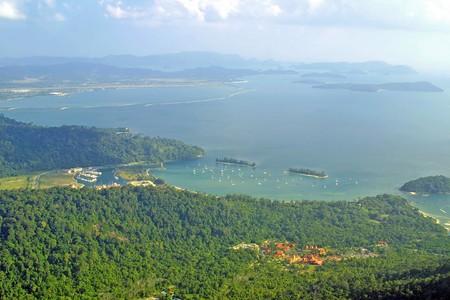 Bird view of Langkawi bay photo