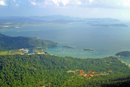 bird view: Bird view of Langkawi bay Stock Photo