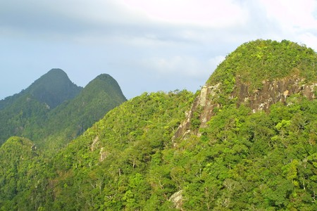 langkawi island: Rainforest hills on Langkawi island, Malaysia Stock Photo