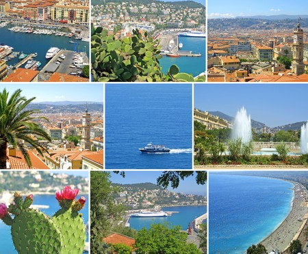 Summer collage made of Nice-city photos photo