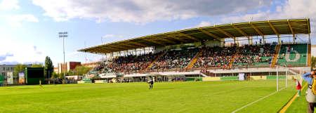 Panoramic view of football soccer stadium