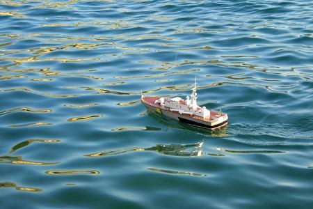 Toy ship in Black Sea photo