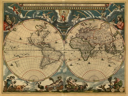 old rustic map: Map of ancient world Stock Photo