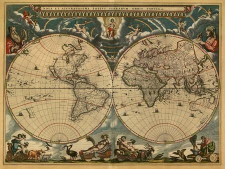 topografia: Mapa del mundo antiguo