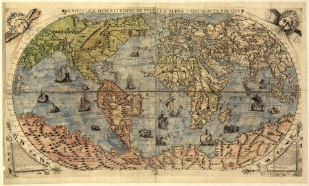 old rustic map: Ancient map of world