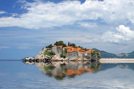 Sveti Stefan (St. Stefan) island in Adriatic sea, Montenegro