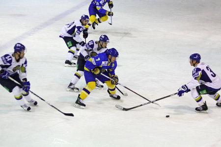KYIV, UKRAINE - DECEMBER 18, 2010: Prime Euro Hockey Challenge game between Ukraine and Kazakhstan on December 18, 2010 in Kyiv, Ukraine