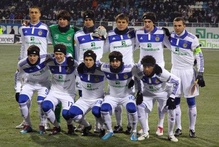 dynamo: KYIV, UKRAINE - DECEMBER 15, 2010: FC Dynamo Kyiv team pose for a group photo before UEFA Europa League game against Sheriff Tiraspol on December 15, 2010 in Kyiv, Ukraine