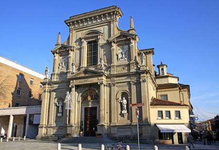 17th century: The church of San Bartolomeo (Chiesa di San Bartolomeo) in Bergamo, Italy. The monument of 17th century, designed by Anton Maria Caneva