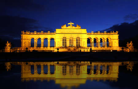 the gloriette: The Gloriette in the Schonbrunn Palace Garden, Vienna, Austria Stock Photo