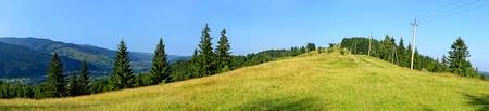 Panoramic view of summer Carpathian mountains, Ukraine Stock Photo - 9458190